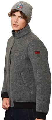 MC2 Saint Barth Ribbed Knit Grey Melange Jacket