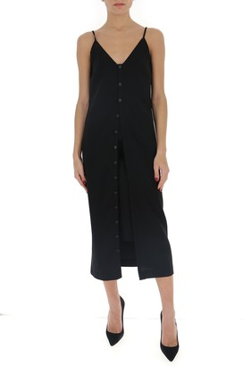 Maison Margiela V-Neck Buttoned Midi Dress