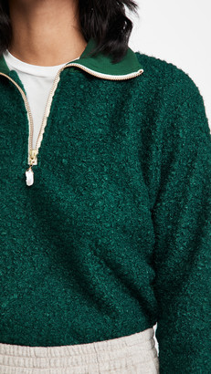 DONNI Curly Sherpa 1/2 Zip Pullover