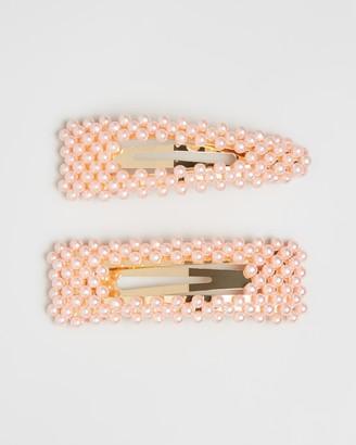 BaubleBar Scarlett Pearl Hair Clip Set