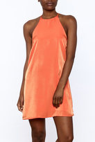 Glamorous Tangerine Satin Dress