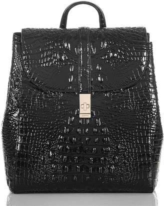 Brahmin Sadie Croc Embossed Leather Backpack