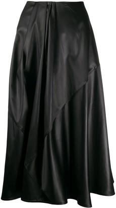 Christian Wijnants draped detail A-line skirt
