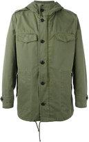 Palm Angels unicorn print hooded jacket - men - Cotton/Polyamide - M