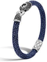 John Hardy Legends Cobra Silver Lava Head Bracelet, Size Medium