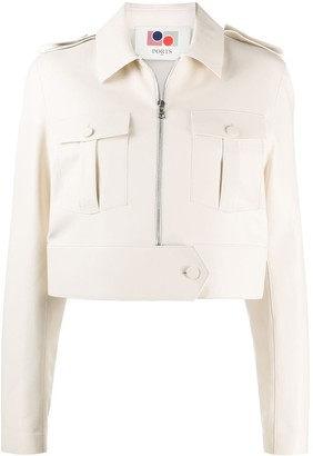 Ports 1961 Cropped Zip-Up Jacket