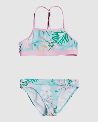 Roxy Girls 2-7 Sunshine Crop Top Bikini Set