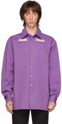 Raf Simons Purple Denim Slim Fit Shirt