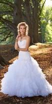 Camille La Vie Strapless Sweetheart Organza Ruffle Wedding Dress