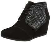 Toms Desert Metallic Boucle & Suede Wedge Bootie