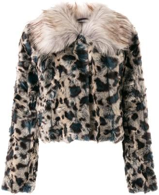 Unreal Fur Leopard Faux-Fur Jacket