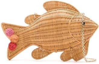 Serpui Marie Straw Fish Shaped Bag