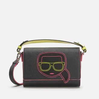Karl Lagerfeld Paris Women's K/Ikonik Neon Cross Body Bag - Black