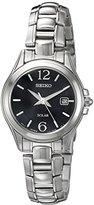 Seiko Women's SUT249 Solar Analog Display Japanese Quartz Silver Watch