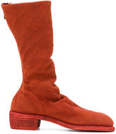 Guidi soft high boots - women - Linen/Flax/Leather - 39