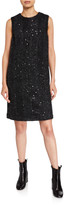 Brunello Cucinelli Sleeveless Sequined Check Dress