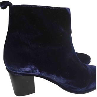 Opening Ceremony Blue Velvet Ankle boots