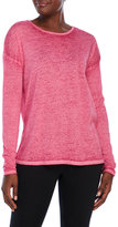 Betsey Johnson Long Sleeve Tee with Strappy Back