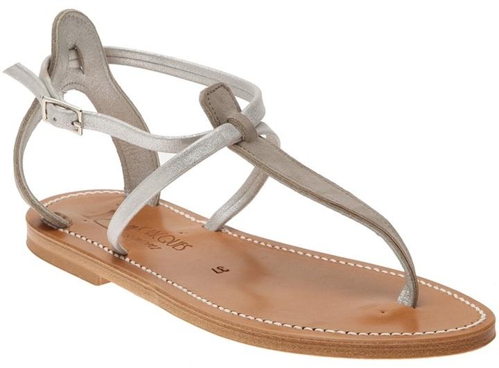 K. Jacques Criss-cross strap sandals