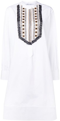 Alberta Ferretti Beaded Shirt Dress