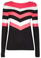 Wallis Chevron Stripe Sweater