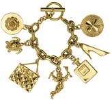 Chanel Gold Tone Icon Charm Bracelet