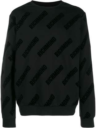 John Richmond Larkin printed logo sweatshirt