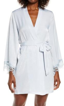 Jonquil Know a Secret Satin Wrap Robe