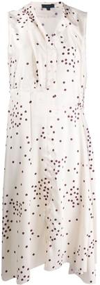 Jejia Polka Dot Print Midi Dress