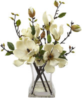 Asstd National Brand Nearly Natural Magnolia Arrangement With Vase
