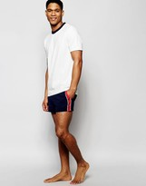 Asos Loungewear Shorts In Pique With Side Tape Stripe Detail