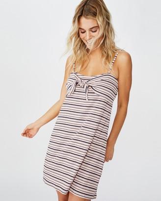 Cotton On Talia Tie Front Strappy Mini Dress