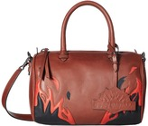 Just Cavalli Calf Leather with Fires Crossbody Cross Body Handbags