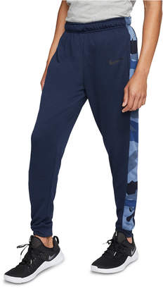 Nike Men Dri-fit Camo-Trim Fleece Tapered Pants