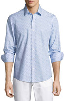 Zachary Prell Munoz Paperclip-Print Sport Shirt, Blue