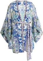 Camilla Porcelain Paradise-print silk kimono
