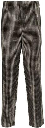 Issey Miyake Homme Plissé check straight leg trousers