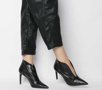 Office Master Piece V Cut Shoeboots Black Leather
