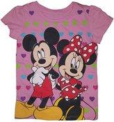 Disney Mouse Heart Background T-Shirt