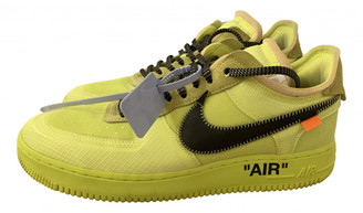 Nike x Off-White Air Force 1 Yellow Cloth Trainers