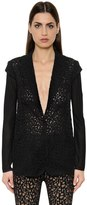 Akris Techno Georgette, Lace & Knit Jacket