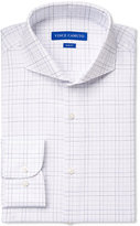 Vince Camuto Slim-Fit Blue Dobby Graphic Check Dress Shirt
