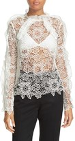 Self-Portrait Women's Floral Lace Top