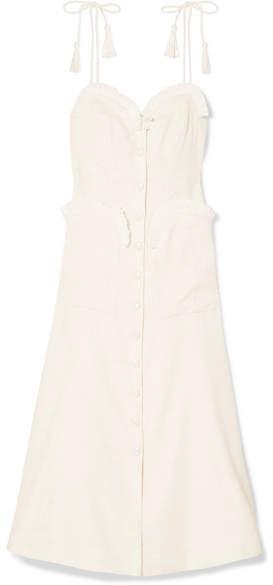 Alice McCall Girls On Film Raffia-trimmed Woven Midi Dress - Cream