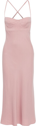 Mason by Michelle Mason Crepe Midi Dress