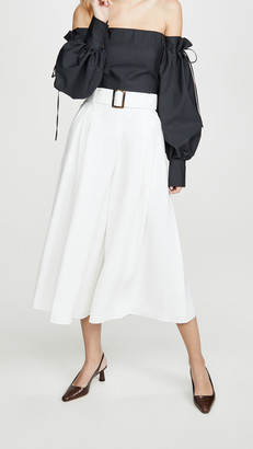 ADEAM Belted Cullotte Pants