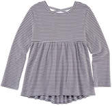 Arizona Long Sleeve Cross-Back Stripe Top - Preschool Girls