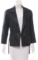 Marissa Webb Tweed High-Low Blazer