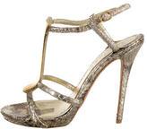 Alexander McQueen Metallic Snakeskin Sandals