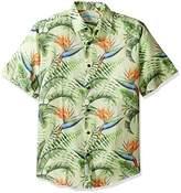 Margaritaville Men's Short Sleeve Birds of Paradise Print Shirt